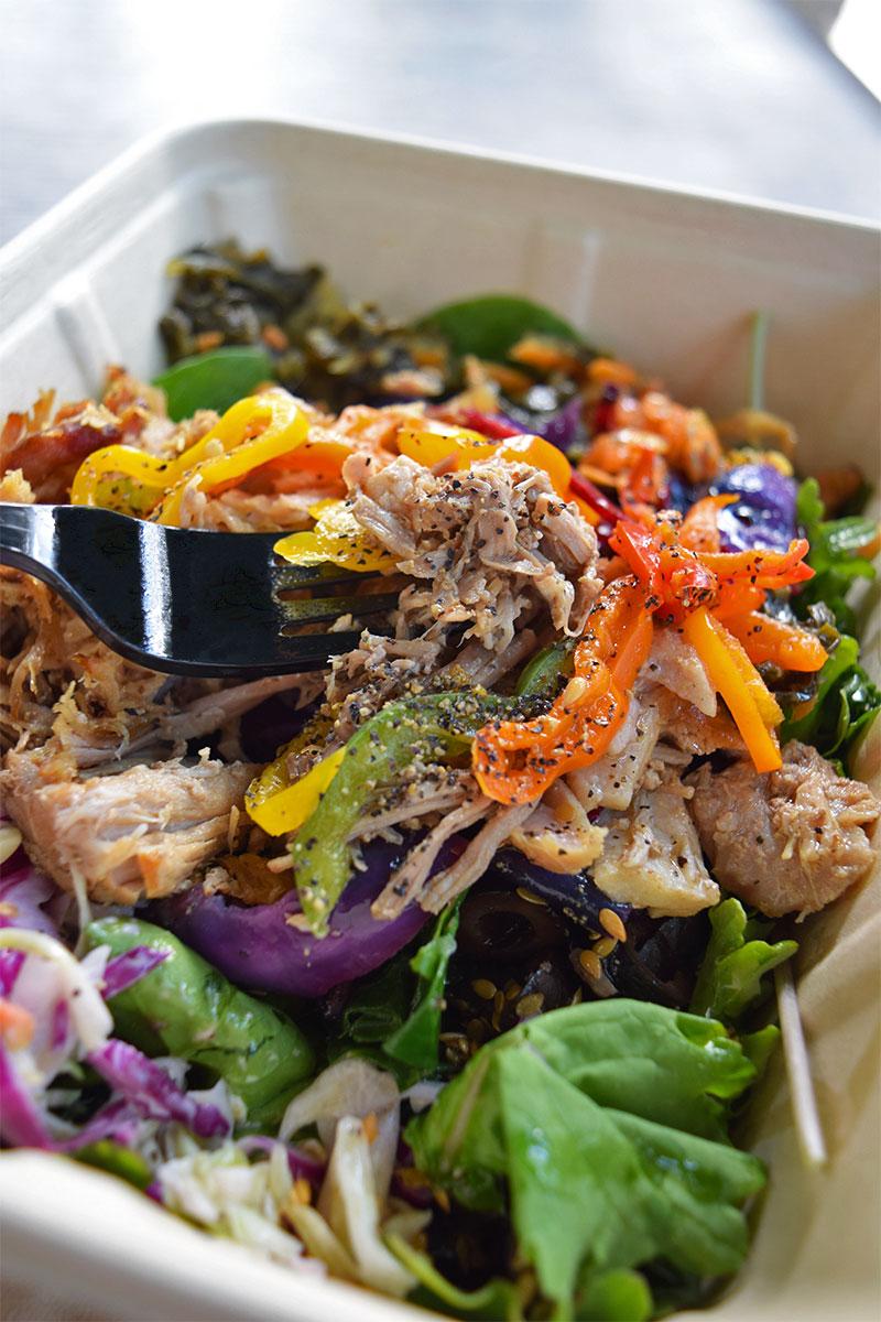 Whole Foods salad, healthy food Waikiki