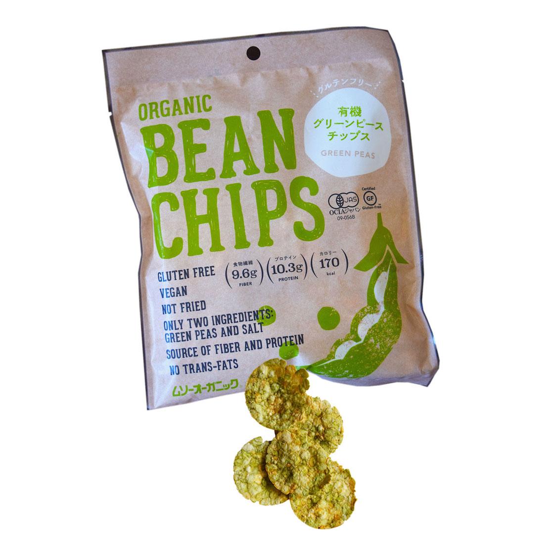 pea chips, healthy snacks Japan