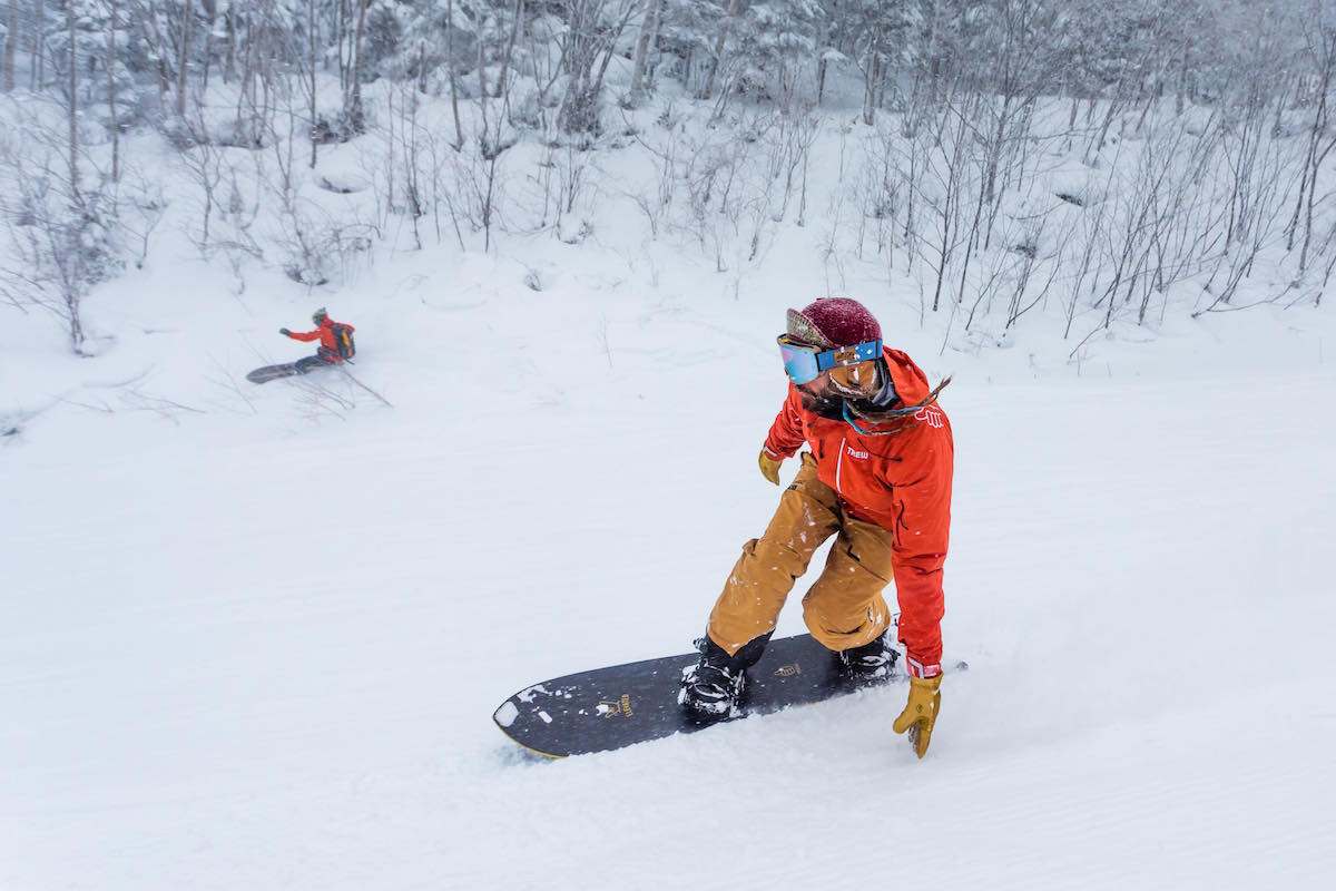 Zen, snowboarding