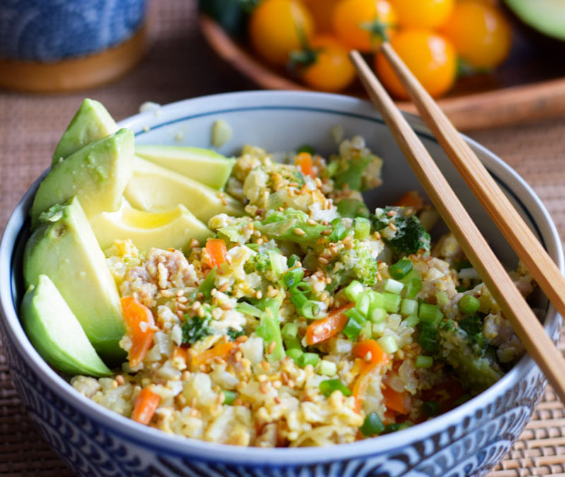 Chicken Cauliflower Fried Rice – that actually tastes good!