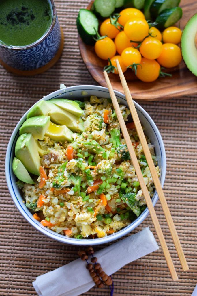 cauliflower low carb fried rice