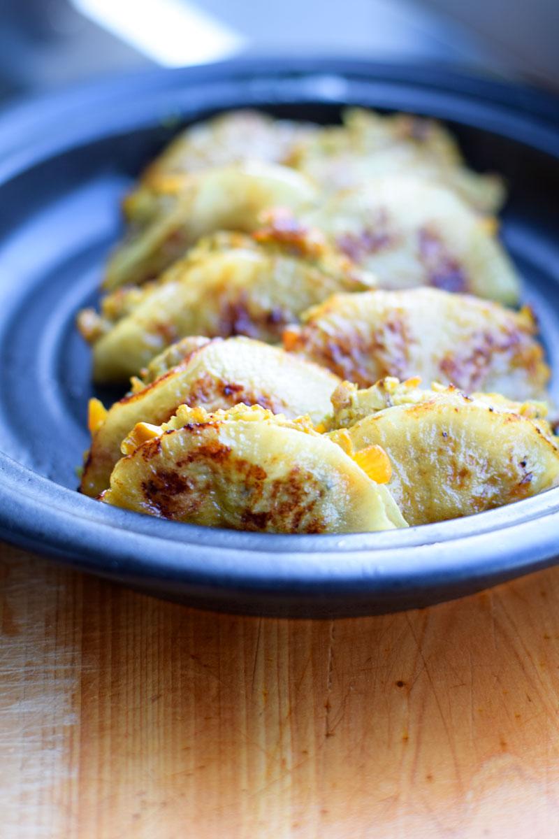 healthy dumplings on a plate