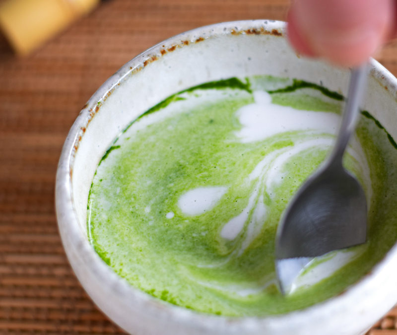 Healthy Matcha Latte with Coconut Milk