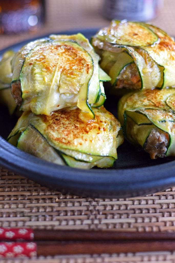 summer zucchini recipe Japanese gyoza dumplings