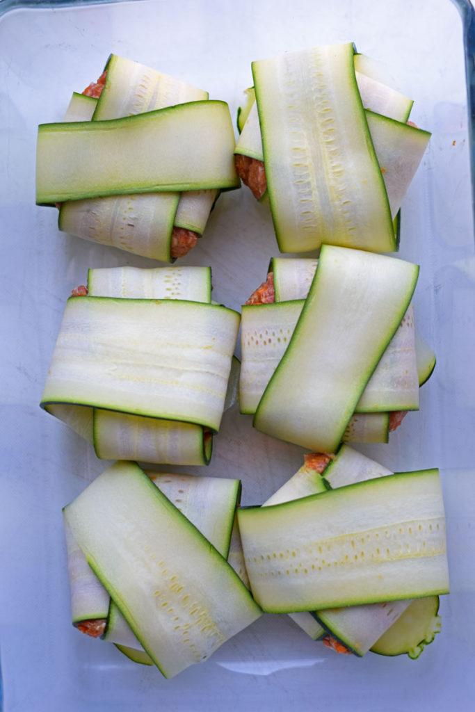 zucchini recipe for gyoza in the oven