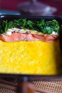 tamagoyaki fillings in pan