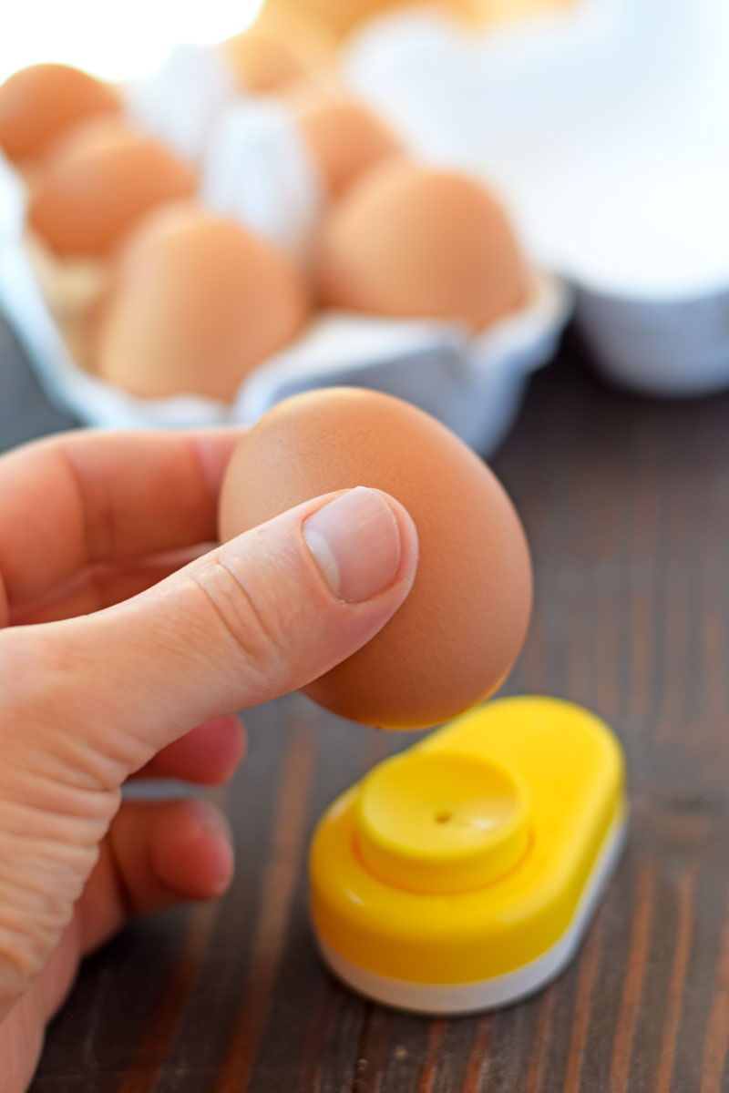 hole puncher to boil easy to peel eggs